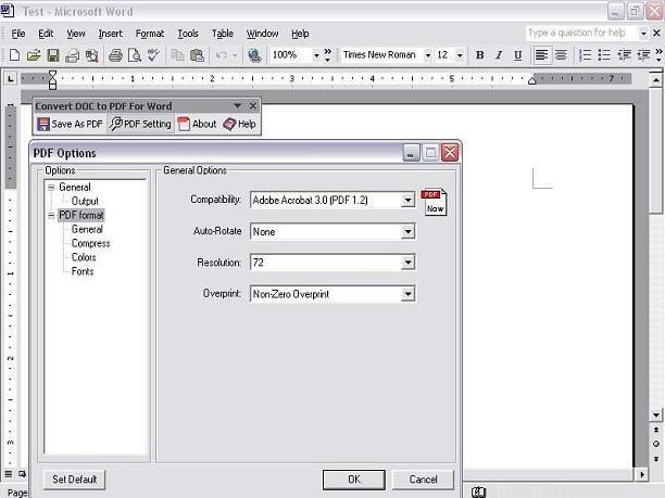 word to pdf converter program