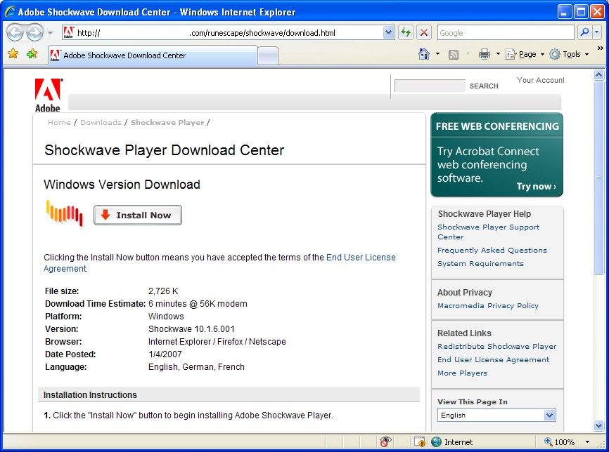 shockwave flash download mac os x