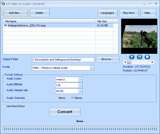 how to delete all audio on a video