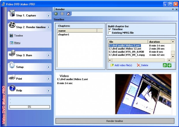 Video DVD Maker Pro Ekran Goruntusu - Render