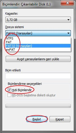 USB den Windows 7 yi Kurmak