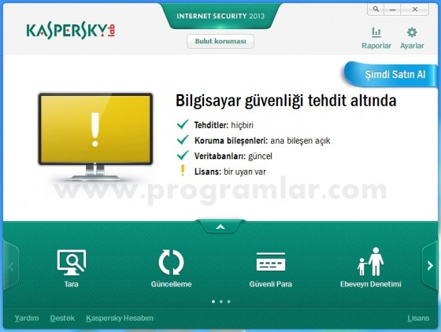 Kaspersky Internet Security 2013 ana ekran