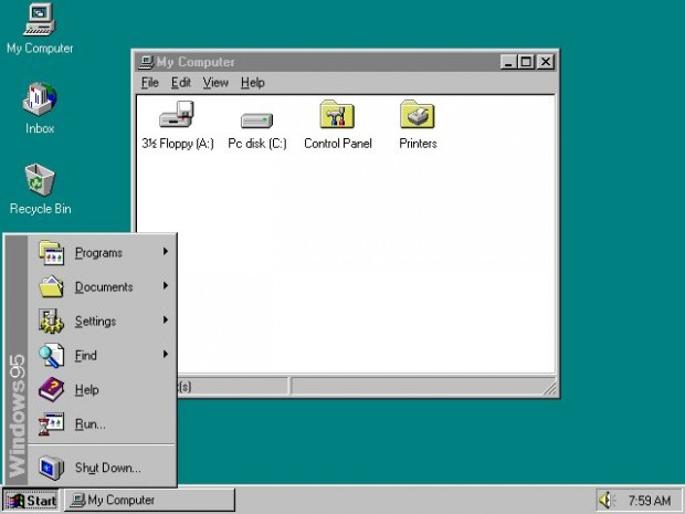 Windows 95 Ana Ekran